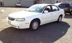 $2,950 1999 CHEVY MALIBU WHITE 4Dr. SEDAN