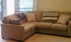 2 Piece Beige Sectional