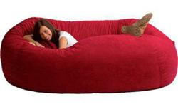 2 Seven Foot Memory Foam Beanbag Sofas Red/Blue & Living