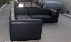 $300 Black Leather Sectional Sofas
