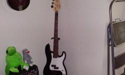 $300 OBO Bass Guitar Squier with accessories inc amp, case,