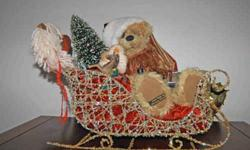 $300 One-of-a-Kind Santa Bear with Toys in Sleigh by Teddy