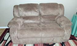 $300 Pair of Microfiber Reclining Loveseats