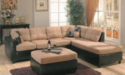 $300 Used L-Shaped Two Tone Sectional Sofa