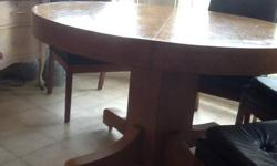 $300 Very Sturdy Circular Solid Oak Dining Table