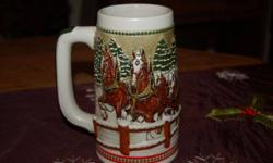 $30 1984 Holiday Budweiser stein CS62 (Mitchell,Ne)