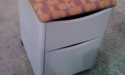 $30 2 Drawer File Cabinet / Stool On Wheels Great For Office