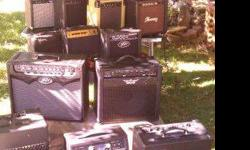 $30 ELECTRIC GUITAR AMPS, 20 amplifiers available
