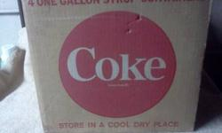 $30 Mid - 1960's Coca-cola glass syrup bottle cardboard box