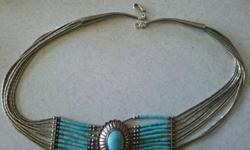 $30 Sterling Silver Turquoise Necklace