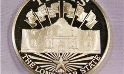 $30 Texas The Lone Star State 1 Ounce .925 Silver