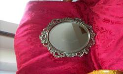 $32 Antique Victorian Ornate Beveled Vanity Mirror--Reduced