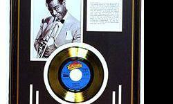 $330 Louis Armstrong Giclee with Gold Record