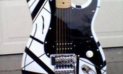 $350 2 Christmas VanHalen Guitar, Black and White (Roswell)