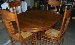 $350 Antique Dining Table and Chairs