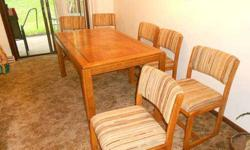 $350 Dining Room Table and Chairs