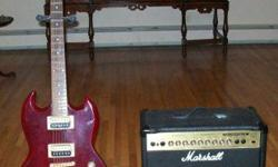 $350 Gibson Electric Guitar & Marshall Amplifier