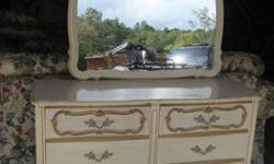 $350 Shabby Chic Bedroom Full/Queen Posterbed Desk