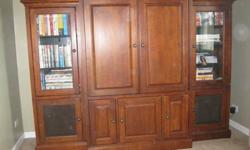 "$350 Solid Wood Entertainment Center with 36"" TV - NICE!"