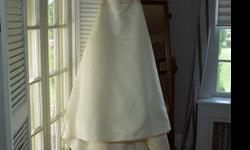 $350 Wedding Gown, veil, shoes