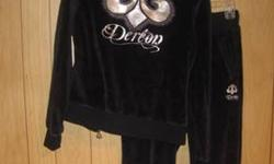 $35 Dereon Velour Hoodie Set ~ Medium ~ Navy Blue