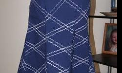 $35 Handpainted Blue Fawn Fashion A-line Skirt