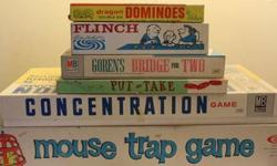 $35 Lot of 6 Vintage Games, Finch, Mouse Trap,