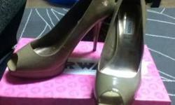 $35 Nude Patent Leather Heels | Size 11