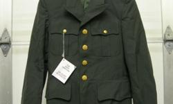 $35 OBO NEW US ARMY MEN'S DRESS GREEN UNIFORM JACKET CLASS A