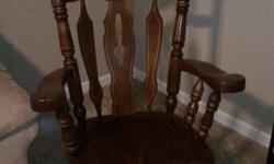 $35 OBO Solid Wood Kennedy Style Rocking Chair