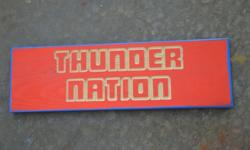 $35 OKC THUNDER wood carved signs