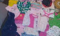 35+ pieces baby girl clothing 0-9 months