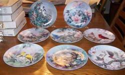 "$360 W.L. George ""Birds of Spring"" Collectors Plates - Set"