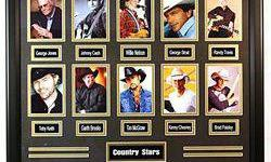 $363 Giclees of The 10 Greatest Country STARS