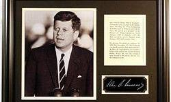 $363 John F. Kennedy Giclee with engraved signature