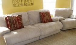 $375 DOWNINGTOWN: Microfiber Reclining Couch & Oversized