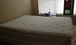$375 OBO Queen Size Pillowtop Mattress, Box Spring and Frame
