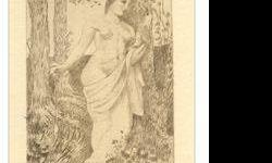 "$375 Puvis de Chavannes etching ""La fileuse"""