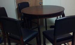 $375 Table Set With 4 Chairs - For Sale