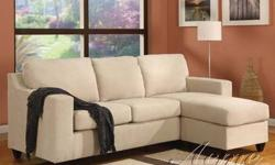 $377 ((( MicroFiber Reversible Chaise Sectional sofa ))) ???