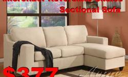 $377 ??? ((( MicroFiber Reversible Chaise Sectional sofa )))