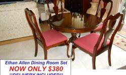 $380 Beautiful Wood Dining Room Set by Ethan Allen Furniture