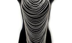 $38 NEW Chunky Body Necklace & Earring Set Long Body Chain