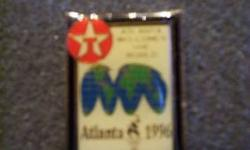$3 1996 Atlanta Olympic Pin (texaco) World Globe
