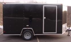 $3,495 Bike week 7x12 V nose enclosed cargo trailer. Storage
