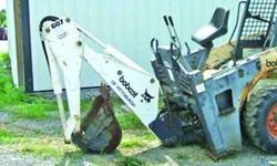 $3,800 BOBCAT 607 backhoe with -
