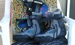 $3 K2 Roller-blades--Ladie's Size 9---with Wrist Guards -