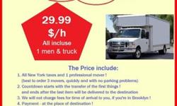 MOVING: 3 man & truck = 59.99 $/h