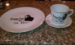 3 Piece Set of AL Hurt Collectable Dishes