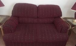 3 Pieces Burgundy Chair Set